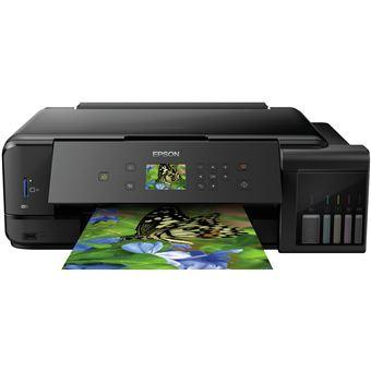 Impressora Multifunções Jacto de Tinta Epson L7180 Wi-Fi Preto