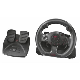 Trust GXT 580 Vibration Feedback Racing Wheel Volante + Pedais PC,Playstation 3 Preto