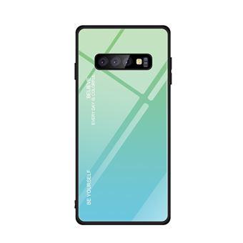 Capa TPU Magunivers vidro de gradiente ciano/azul para Samsung Galaxy S10