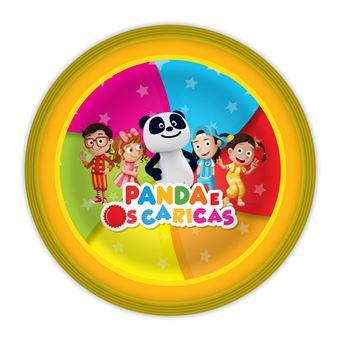 Pratos Panda e Caricas | 8 Peças