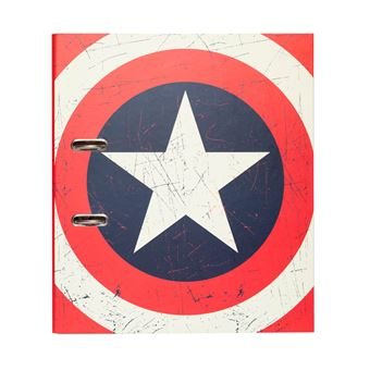 Pasta de Arquivo Marvel Captain America Shield com Compressor