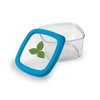 Caixa de armazenamento de comida Snips 021435  Retangular 1 l Azul, Verde, Transparente 1 peça(s)