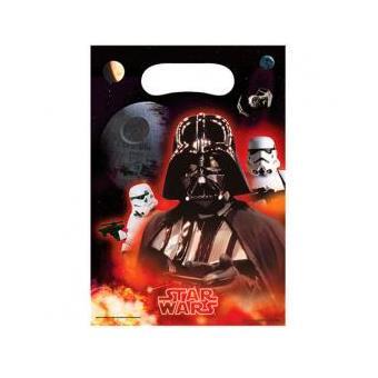 Conjunto de 6 sacos de festas e aniversários Star Wars Disney Classic