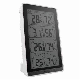 Estações meteorológicas digitais Technoline WS 7060 Prateado Bateria