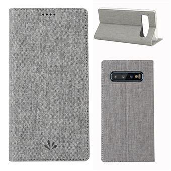 Capa Magunivers PU suporte para cartão cinza para Samsung Galaxy S10