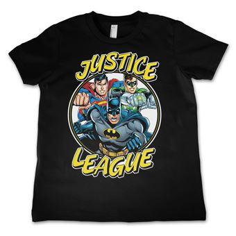 T-shirt para Criança Justice League Team | Preto | 10 Anos
