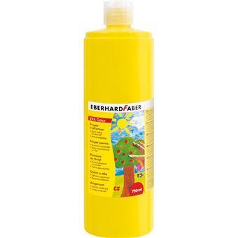 Tinta lavável para pintar com dedos eberhard faber efacolor amarelo