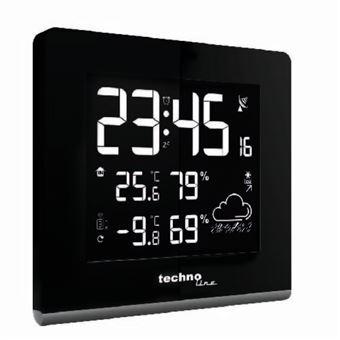 Estações meteorológicas digitais Technoline WS 9065 Preto AC/Bateria