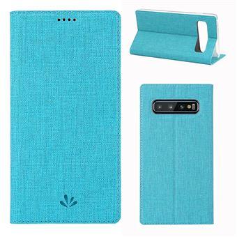 Capa Magunivers PU suporte para cartão azul para Samsung Galaxy S10