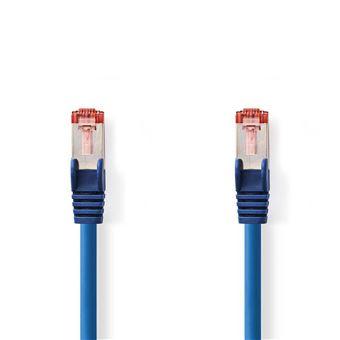 cabo de rede Nedis CCGP85221BU10  1 m Cat6 S/FTP (S-STP) Azul