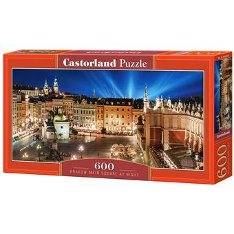 Puzzle Castorland Krakow Main Square at Night 600 Peças