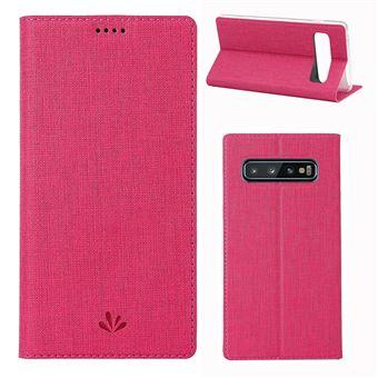 Capa Magunivers PU suporte para cartão rosa para Samsung Galaxy S10