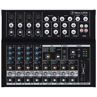 misturador de áudio Mackie Mix12FX Preto