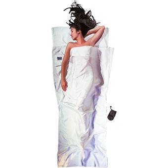 Cocoon TravelSheet Silk Rectangular sleeping bag Seda Branco Adulto