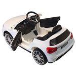 Carro Elétrico HomCom | 3-8 Anos | Mercedes Benz GLA | Luzes + Controlo Remoto + MP3 + USB + Sons | Assento de Couro | Abertura de Porta | Carga 30 kg | 100x58x46 cm - Branco