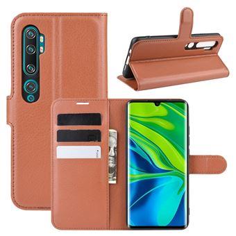 Capa Magunivers | PU + TPU Castanho para Xiaomi Mi Note 10/Mi Note 10 Pro/Mi CC9 Pro