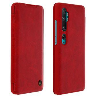 Capa de Proteção Avizar para Xiaomi Mi Note 10 /10 Pro | Porta-Cartões | Couro - Vermelho