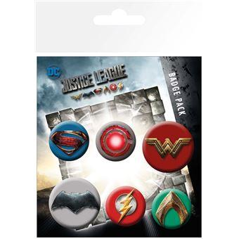 Conjunto de pins GB Posters Justice League Movie Mix