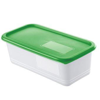Rotho DOMINO Caixa Retangular 1,2 l Verde, Branco 3 peça(s)