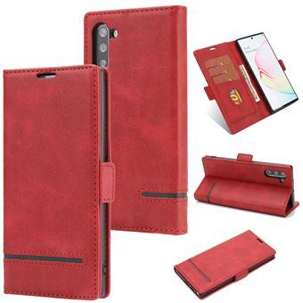 Capa Magunivers PU Emenda com Apoio Vermelho para Samsung Galaxy Note 10/Note 10 5G
