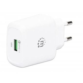 Carregador de dispositivos móveis manhattan 102285 interior branco