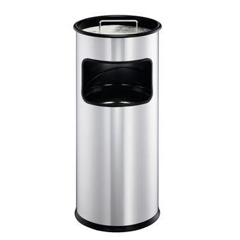Caixote do Lixo Durable 333023  17 l Redondo Metal Prateado