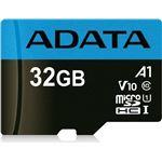 cartão de memória ADATA 32GB, microSDHC, Class 10  Cláss 10 UHS-I Preto e Azul