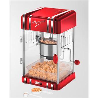 Unold Retro máquina de fazer pipocas Vermelho, Prateado 300 W