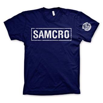 T-shirt SAMCRO Distressed | Azul Marinho | L