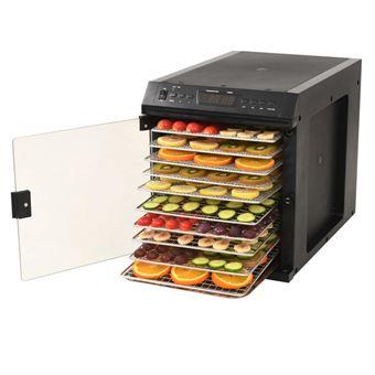 Desidratador de Alimentos vidaXL aço inoxidável 11 bandejas 480W preto