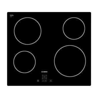 Placa de Cozinha Eléctrica Vitrocerâmica Encastrável Bosch PKE611D17E Preto