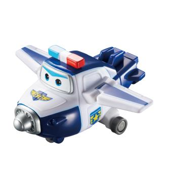 Figura de acção Transform-a-Bot Super Wings Paul Azul e Branco