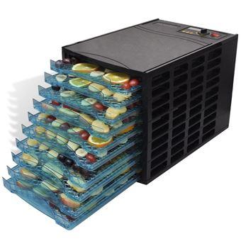 Desidratador de Alimentos vidaXL com 10 bandejas (quadrado)