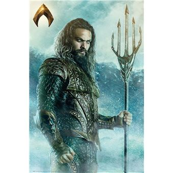 Poster em tubo GB Posters Justice League Movie Aquaman Trident 61x91.5cm