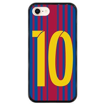 Capa Hapdey para iPhone 7 - 8 Design Ilustração de Futebol, Número 10 em Silicone Flexível e TPU Preto