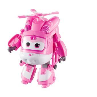 Figura de acção Transform-a-Bot Super Wings Transforming Dizzy Rosa e Branco