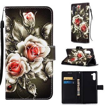 Capa Magunivers PU + TPU Impressão Padrão com Apoio Flor para Samsung Galaxy Note 10/Note 10 5G