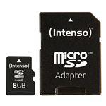 cartão de memória Intenso 8GB MicroSDHC  Class 10  Preto