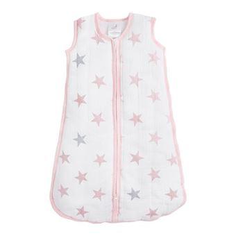 aden + anais G3463B saco manta para bebé Rosa, Branco Menina