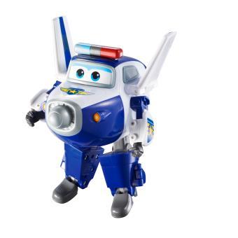 Figura de acção Transform-a-Bot Super Wings Transforming Paul Azul e Branco