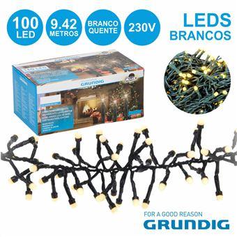 Conjunto De Luzes Grundig com 100 Leds 230V Branco Quente