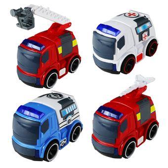 Pack de 4 Veículos de Emergência BYJia