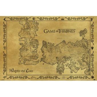 Poster em tubo GB Posters Game Of Thrones Mapa antigo 61 x 91,5 cm
