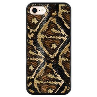 Capa Hapdey para iPhone 7 - 8 Design Textura de Pele de Cobra em Silicone Flexível e TPU Preto