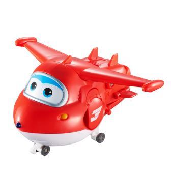 Figura de acção Transform-a-Bot Super Wings Transforming Jett Vermelho e Branco
