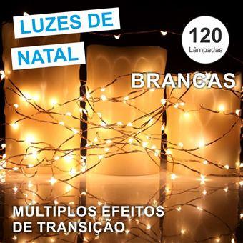 Conjunto De Luzes Grundig com 120 Leds 230V Branco Quente