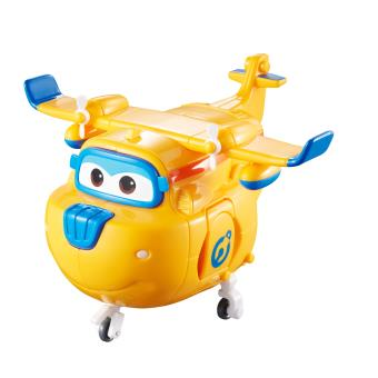 Figura de acção Transform-a-Bot Super Wings Transforming Donnie Azul e Laranja