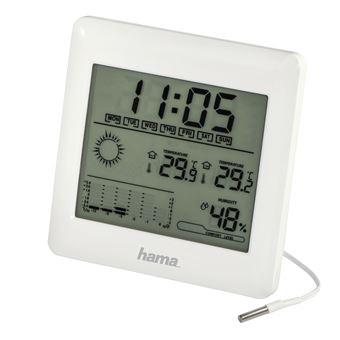 Estações meteorológicas digitais Hama EWSC-100 Branco Bateria
