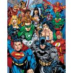 Mini Poster GB Eye DC Comics Liga da Justiça Collage 40 x 50 cm