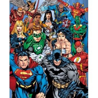 Mini Poster GB Eye DC Comics Liga da Justiça Collage 40 x 50 cm